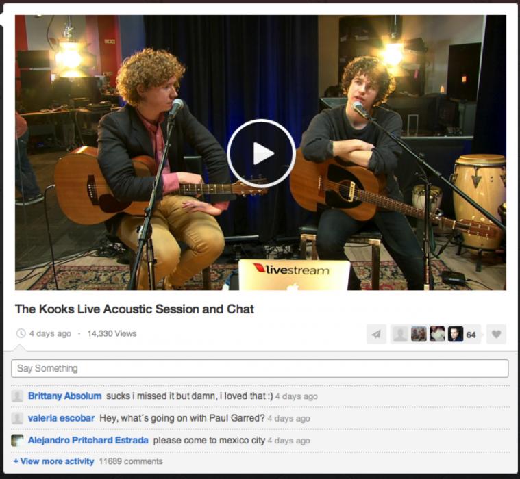 Foto the kooks livestream